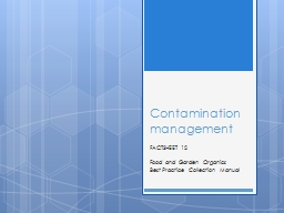 Contamination PowerPoint PPT Presentation