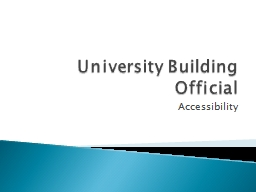 University Building Official