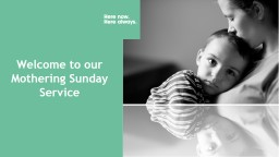 Welcome to our Mothering Sunday Service PowerPoint PPT Presentation