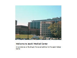 Welcome to Jacobi Medical Center PowerPoint PPT Presentation