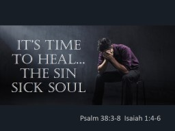 IT's Time to Heal...
