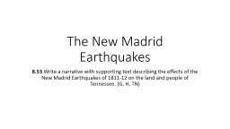 The New Madrid Earthquakes