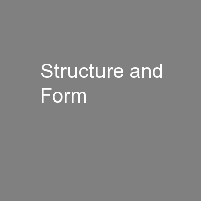 Structure and Form