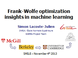 Frank-Wolfe optimization insights in machine learning