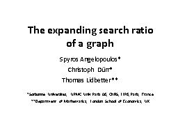 The expanding search ratio