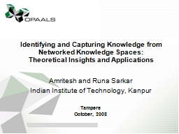 Identifying and Capturing Knowledge from Networked Knowledg