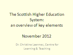The Scottish Higher Education System: