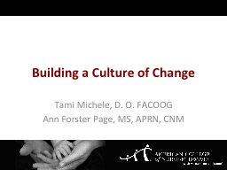 Building a Culture of Change PowerPoint PPT Presentation