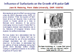 Influence of Surfactants on the Growth of N-polar GaN PowerPoint PPT Presentation