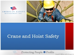 Crane and Hoist Safety PowerPoint PPT Presentation