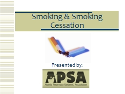 Smoking & Smoking Cessation PowerPoint PPT Presentation