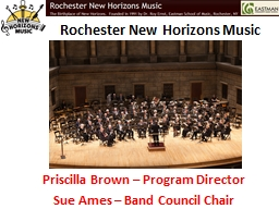 Rochester New Horizons Music