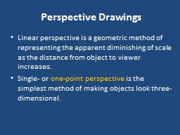 Perspective Drawings PowerPoint PPT Presentation