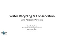 Water Recycling & Conservation