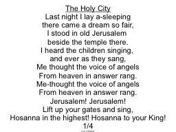 The Holy City PowerPoint PPT Presentation