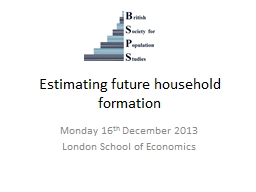 Estimating future household formation PowerPoint PPT Presentation