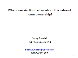 What does Air BnB tell us about the value of home ownership