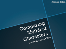 Comparing Mythical Characters