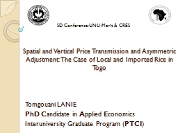 Spatial and Vertical Price Transmission and