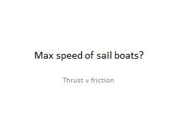 Max speed of sail boats?