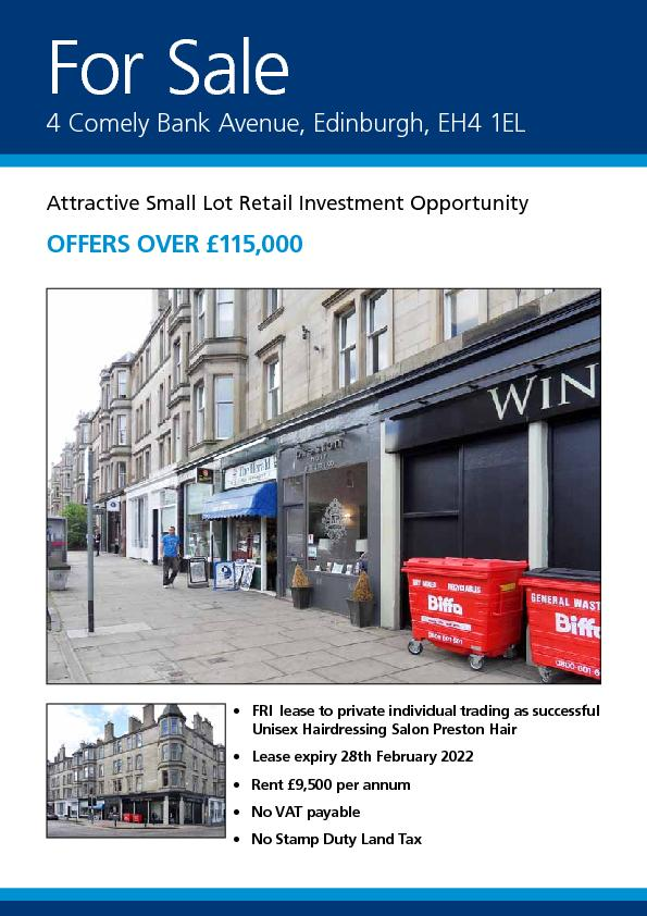 Attractive Small Lot Retail Investment OpportunityOFFERS OVER
