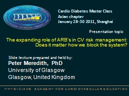 The expanding role of ARB's in CV risk management: