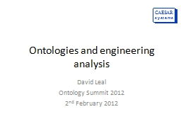 Ontologies and engineering analysis PowerPoint Presentation, PPT - DocSlides