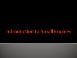 Introduction to Small Engines
