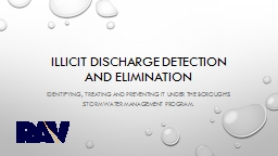 Illicit Discharge Detection and Elimination