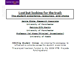Lost but looking for the trail: PowerPoint PPT Presentation