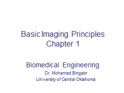 Basic Imaging Principles