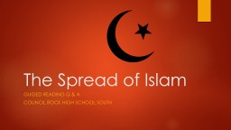 The Spread of Islam PowerPoint PPT Presentation