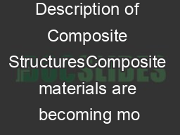 Description of Composite StructuresComposite materials are becoming mo