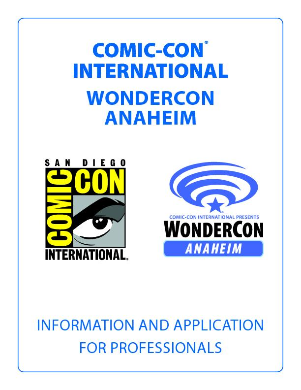 INFORMATION AND APPLICATIONFOR PROFESSIONALSCOMIC-CONINTERNATIONALWOND