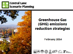 Greenhouse Gas (GHG) emissions reduction strategies