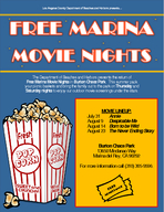 FREE MARINA MOVIE NIGHTS The Department of Beaches and Harbors presents the return of Free Marina Movie Nights in Burton Chace Park  PowerPoint PPT Presentation