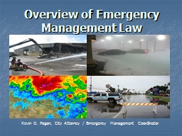 Overview of Emergency Management Law PowerPoint PPT Presentation