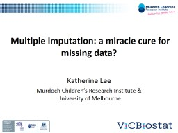 Multiple imputation: a miracle cure for missing data?