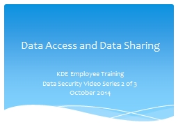 Data Access and Data Sharing