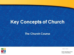 Key Concepts of Church
