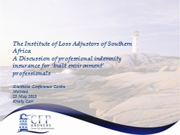 The Institute of Loss Adjustors of Southern Africa