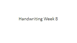 Handwriting Week