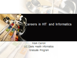 Careers in HIT and Informatics