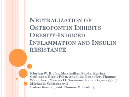 Neutralization of Osteopontin Inhibits Obesity-Induced Infl