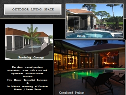 Our client wanted outdoor entertaining space with a new and