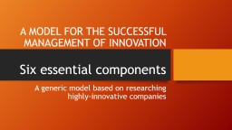 3M  – how they manage innovation PowerPoint PPT Presentation