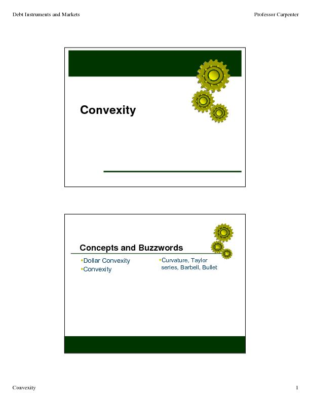 Dollar ConvexityConvexityCurvature, Taylor PowerPoint PPT Presentation