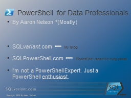 PowerShell for Data Professionals