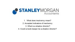 What does insolvency mean?