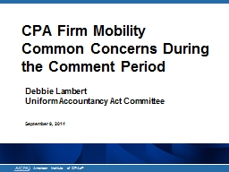CPA Firm Mobility
